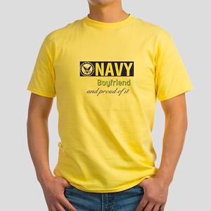 Navy Boyfriend Yellow T-Shirt