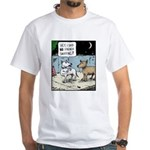 French Sniffing White T-Shirt