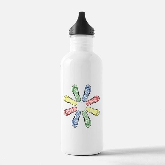 Flower Flops Water Bottle