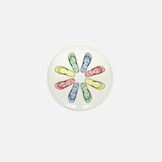 Flower Flops Mini Button