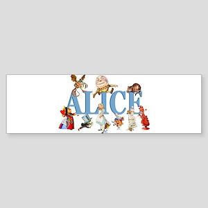 Alice & Friends in Wonderland Sticker (Bumper)