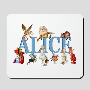 Alice & Friends in Wonderland Mousepad