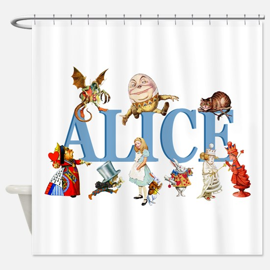 Alice & Friends in Wonderland Shower Curtain