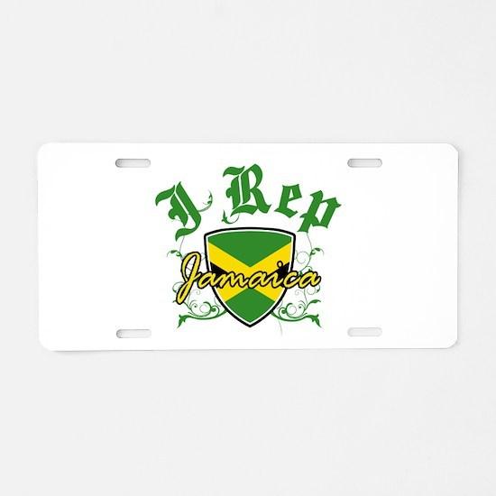 I Rep Jamaica Aluminum License Plate