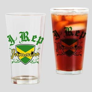 I Rep Jamaica Drinking Glass
