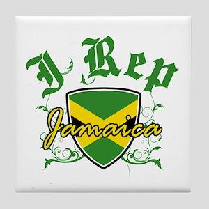 I Rep Jamaica Tile Coaster