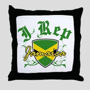 I Rep Jamaica Throw Pillow