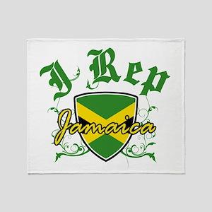 I Rep Jamaica Throw Blanket