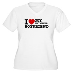 I love My Swimmer Boyfriend T-Shirt