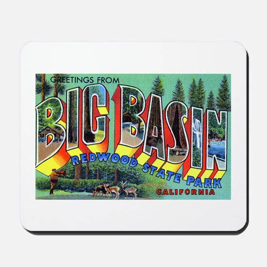 Redwood Big Basin Greetings Mousepad