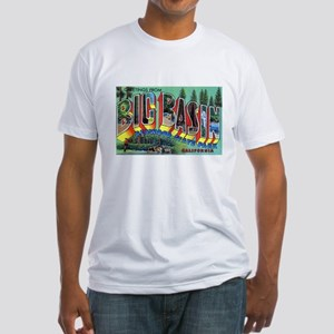 Redwood Big Basin Greetings (Front) Fitted T-Shirt