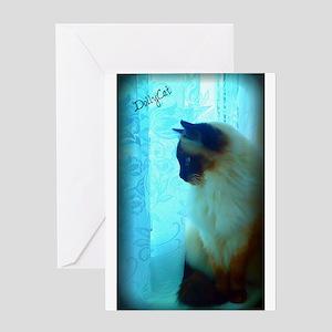 DollyCat Atmosphere - Ragdoll Cat - Greeting Card