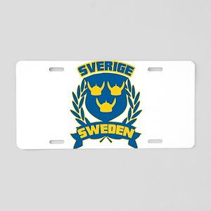 Swedish Aluminum License Plate