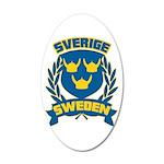 Swedish 38.5 x 24.5 Oval Wall Peel