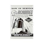 Reading Crusader Streamliner Rectangle Magnet