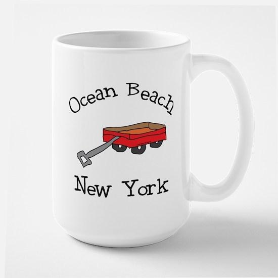 Ocean Beach Fire Island Large Mug