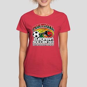 Portugal European Futebol 2012 Women's Dark T-Shir