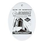 Reading Crusader Streamliner Oval Ornament