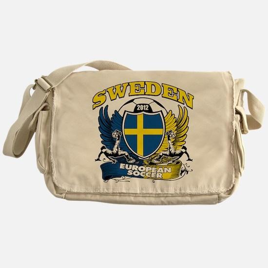 Sweden European fotboll 2012 Messenger Bag