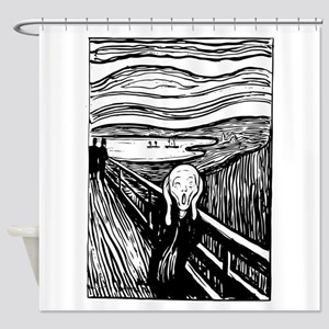 Edvard Munch The Scream Shower Curtain