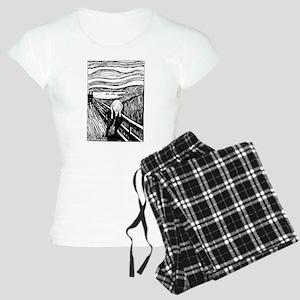 Edvard Munch The Scream Women's Light Pajamas