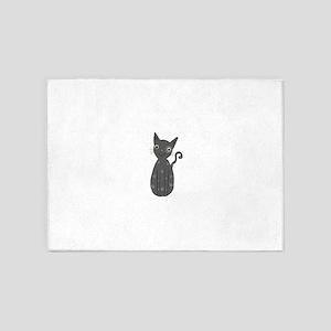 Grey kitty 5'x7'Area Rug