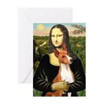 Mona Lisa - Basenji #1 Greeting Card