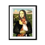 Mona Lisa - Basenji #1 Framed Panel Print