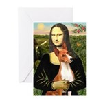 Mona Lisa - Basenji #1 Greeting Cards (Pk of 10)