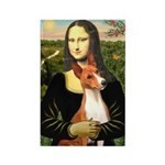 Mona Lisa - Basenji #1 Rectangle Magnet