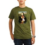 Mona Lisa - Basenji #1 Organic Men's T-Shirt (dark