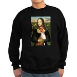 Mona Lisa - Basenji #1 Sweatshirt (dark)