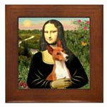 Mona Lisa - Basenji #1 Framed Tile
