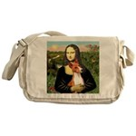 Mona Lisa - Basenji #1 Messenger Bag