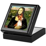 Mona Lisa - Basenji #1 Keepsake Box