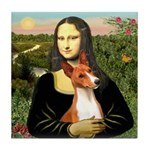 Mona Lisa - Basenji #1 Tile Coaster