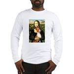 Mona Lisa - Basenji #1 Long Sleeve T-Shirt