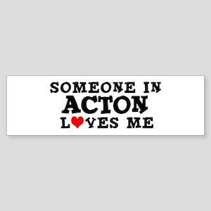 Acton: Loves Me Bumper Sticker