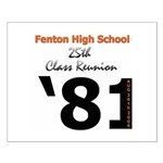 Fenton Class of '81 25th Small Poster