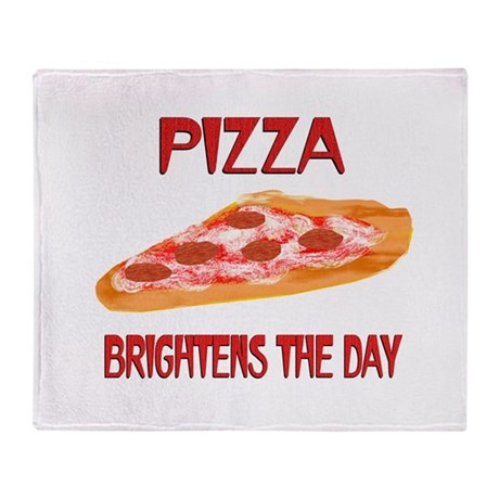 Pizza Brightens Throw Blanket