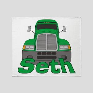 Trucker Seth Throw Blanket