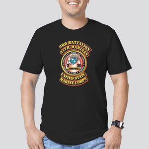 USMC - 3rd Battalion - 24th Marines Men's Fitted T