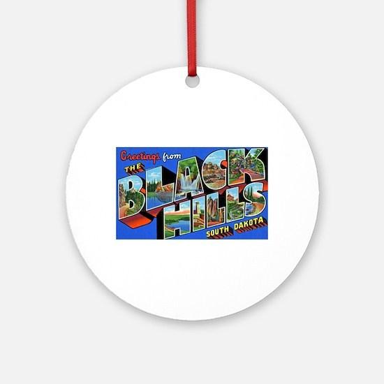 Black Hills South Dakota Ornament (Round)