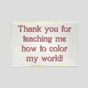 Teacher Thank You Rectangle Magnet (10 pack)