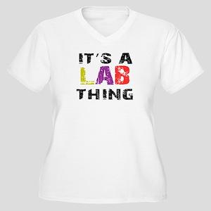 Lab THING Women's Plus Size V-Neck T-Shirt