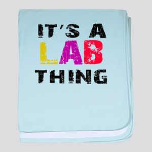 Lab THING baby blanket