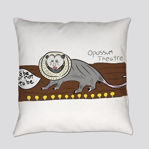 Opossum Theatre Everyday Pillow