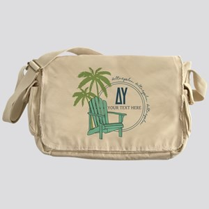 Delta Upsilon Palm Chair Messenger Bag
