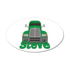 Trucker Steve 38.5 x 24.5 Oval Wall Peel