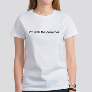 withthedrummerWHITE T-Shirt